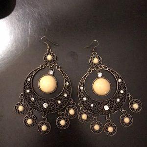 Bebe Chandelier Style Earrings